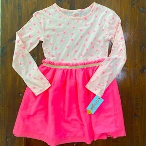 Girls Cat & Jack NWT Pink Heart Tulle Dress Medium